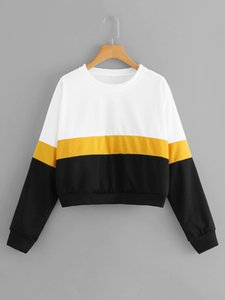 OFF 70% Long sleeve round neck Pullover color matching women's sweater in autumn and winter