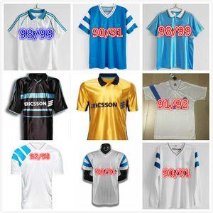 1990 1991 1992 1993 مارسيليا الرجعية لكرة القدم الفانيلة Olympique دي 1998 1999 2000 كانتونا وضل فوتبول مايلوت كيت خمر لكرة القدم Camiseta