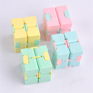 Hot Infinity Cube Candy Color Fidget Cube Anti Stress Cube Finger Hand Spinners Fun Toys For Adult Kids Adhd Stress Relief Toy