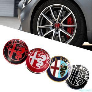 56mm Car Styling Tire Hubcap Sticker Wheel Rim Badge for Alfa Romeo Mito Giulia Giulietta 147 155 156 159 Stelvio 4C Accessories