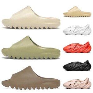 2021 Fashion Designer Slides Slifts Slipper Bone Resina Earth Brown Desert Sand Oringal Donne Uomo Mens Bambini Pantofole Eva Sandali Beach Sandali da spiaggia 23-45