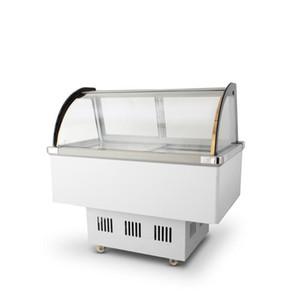 Gelato Dondurma Ekran Dondurucu / Buz Popsicle Buzdolabı Ekran Süpermarket Göğüs Vitrin Ücretsiz Kargo CFR Deniz