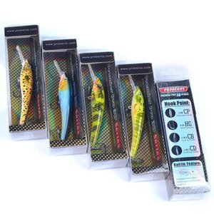 Brand Proberos Freshwater Pesca Minnow Cebo Artificial Ganchos 9.5cm 5g 6 Colores Suspendiendo Jerkbait Laser Cebos Duros PQ2SM KE8FW