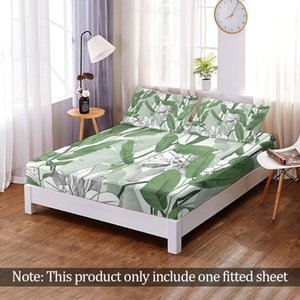 Sheets & Sets Fashion Fitted Sheet 3D Print Tropical Plant Leaves Custom Modern Hawaii Elastic Band Bed Queen King Bedroom Home Decor