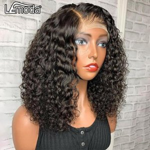 Lace Wigs 13x6 Water Wave BOB Wig Front Human Hair For Black Women Brazilian Natural HD Deep Part With Baby