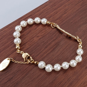 4 Farben Perle Perlen Armband Beliebte Mode Frauen Dame Strass OBIT Armband Geschenk Für Liebe Freundin Modeschmuck Zubehör