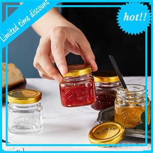 British Kilner bird's nest packing sealed glass jar Mini jam seasoning bottle 55ml * 4