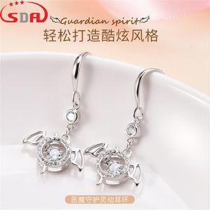 Sda925 silver devil guard smart earrings feminine personality Earrings New gift giving live broadcast