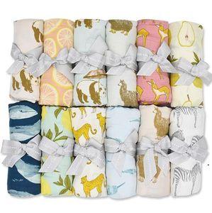 Infant Blanket Double Gauze Wraps Bamboo Fiber Bamboo Cotton Swaddle Newborn Infant Soft Bath Towel Wrap Newborn Wraps Towels AHB5127