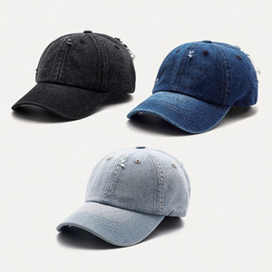2021 Men's and Women's Baseball Caps Wearing Faded Looking Cowboy Baseball Caps Fashion Personality Pointed Hats