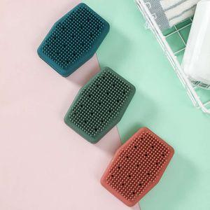 2021 NUEVO Baño de silicona Artifact Double Sided Massage Bath Silicone Bath Towel Cepillo Back Scrubber