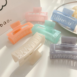 Plastic Hair Claw Banana Clips French Design Barrettes Candy Color Large Claw Clip Fashion Accessories for Women Girls Kimter-C584FZ