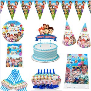 Cocomelon Banner - Family Themed Tablecloth, Birthday Party Supplies, Tumblers, Plates, Straws, Kids Toys, Baby Gift Reception Decoration