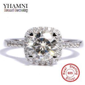 Designer Yhamni 90% Off Big Sale Classic Original Silver Engagement Wedding Band Rings for Women 1ct Diamond Ring 925 Sterling Silver R035