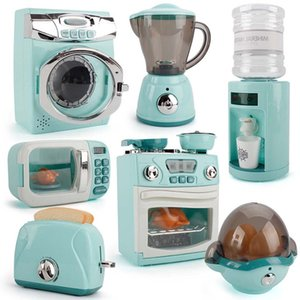 Children Kitchen Toy Simulation Washing Machine Bread Maker Oven Microwave Girls Play House Role Play Interactive Toys 210312