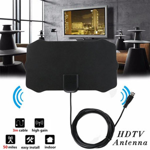 1080P Indoor Digital TV Antenna Signal Receiver Amplifier TV Radius Surf Fox Antena HDTV Antennas Aerial Mini DVB-T T2