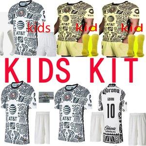 Novo Liga MX 21 22 22 Club América Futebol Jerseys Terceiro Henry Giovani Cáceres B.valdez 2021 2022 Maillot Kit Kit Camisas de futebol