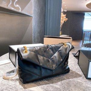 Роскошные дизайнеры сумки подлинные овчины кожаные женщины Crossbody сумка классические буквы цепные кошельки цепи с коробкой