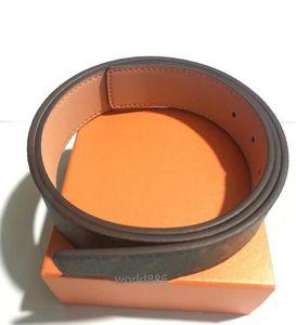 Fashion top grade Custom leather belt Casual big gold Buckle Multicolor Business Men design Genuine Belts with box