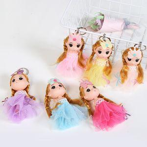 Korean Version Lovely Blonde Barbie Doll Butterfly Fairy Princess Confused Bag Car Key Pendant
