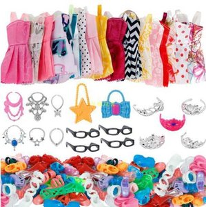 Change 10 pieces baby skirt 10 pairs of shoes 5 crowns 6 necklaces glasses bag magic wand accessories 70g