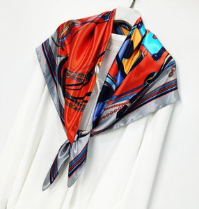 Beautiful Design Luxury Scarves For Women Classic 90*90cm Square Scarf and Shawls Wraps Hijab Lady's Neckerchief Neck Warmer Satin Scarf