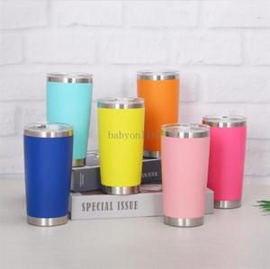 Tasses en acier inoxydable de 20 oz isolant à double mur double mur Verre Verre Thermblers Thermblers de café avec couvercles FY4412