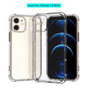 For iPhone 12mini 12 11 Pro MAX XS XR XS MAX 7 8 Plus Clear Cell Phone Cases Transparent Soft TPU Shockproof Cover
