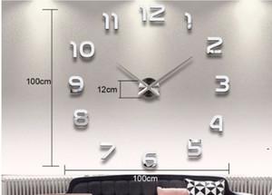 تزيين المنزل عدد كبير مرآة ساعة الحائط تصميم الحديثة ساعة الحائط كبيرة 3d ووتش جدار هدايا فريدة من نوعها BWB5336