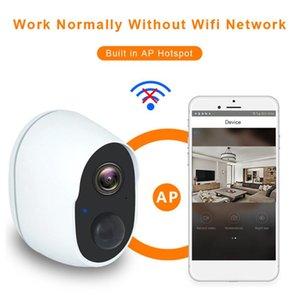 Webcams WiFi WiFi Cámara de vigilancia impermeable Tuya HD Smart IP IP al aire libre Batería Noche Visión Voz Intercom PIR CCTV