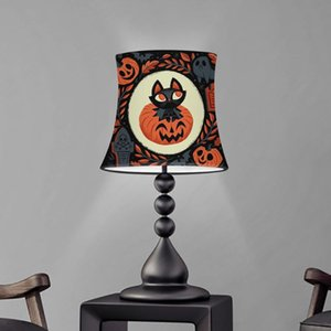Lamp Covers & Shades Cute Halloween Cat Ghost Pumpkin Print Table Screen Bedroom Shade Decoration Dust Proof Cover Washable Lampshade