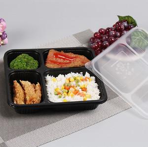 1000ml Tek Kullanımlık Bento Kutusu Yemek Hazırlık Konteyner Gıda Depolama PP Uzaktan Gıda Ambalaj Kutuları Yüksek Kaliteli Tek Kullanımlık Bento Kutusu KKA8347