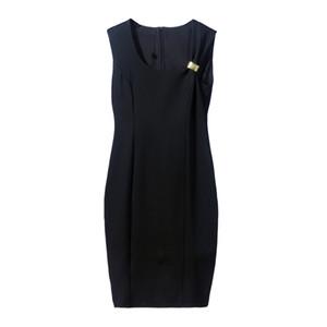 New Sexy Women Black Runway Dresses Sleeveless Slim Dress High Quality Female Fashion Sheath Mini Milan Runway Party Dresses E30
