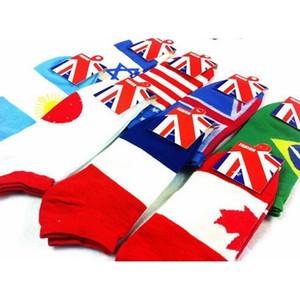 Brasil Prettybaby algodón clásico japonés Italia Canadá Francia británica Estados Unidos bandera calcetines deportes zapatillas en barco calcetín para xh6qa4