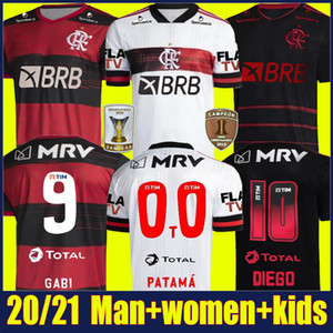 2020 Flamengo Soccer Jersey de Arrascaeta Gabriel Barbosa Chemises de football Enfants Kit Gerson B.Henrique Camisa Flamengo Feminina 20/21