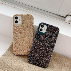 TPU Gel Material Protective Skin Phone cases Shell Glitter Shockproof Bling Pattern Cover for iPhone 11 12 MAX PRO Mini