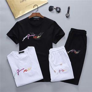 Lüks Tasarımcılar erkek Elbise Bir Adam Eşofmanlar Sumer Rahat Polos Kıyafetler Klasik Şort Pantolon Varış Moda 100% Pamuk İki Adet Suits M-3XL # 01