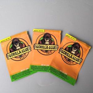 GORILLA GLUE BAG 3.5g Smell Proof Bags Vape Packaging for Dry Herb GORILLAS glues mylar Zipper bags DHL Free