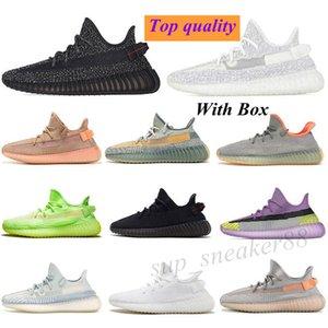 Adidas Yeezy 350 2021 static 3M zapatos de ejecución reflectante barato belgua 2.0 zapatos amarillos semi congelados de alta calidad para hombres mujer zapatillas de deporte