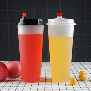 Fedex 20 OZ Tek Kullanımlık Plastik Suyu Kupası Kalp Kapak Buzlu Süt Çay Bardaklar Gıda PP İçecek Konteyner Kalınlaşmak Şeffaf İçecekler Kupa 142 S2