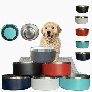 8 Colors Dog Bowls 32 oz Stainless Steel Tumblers Double Wall Vacuum Insulated Large Capacity 32oz Pets Cups Boomer Dog Bowl mugs GWD4884