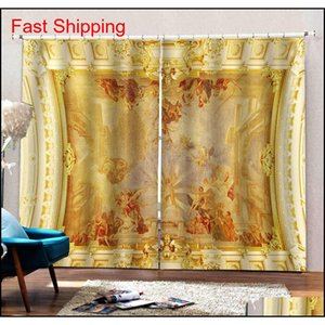 Soundproof Windproof Curtain European 3d Curtains Angel Design Curtains For Living Room Bed jlltwz bdegarden