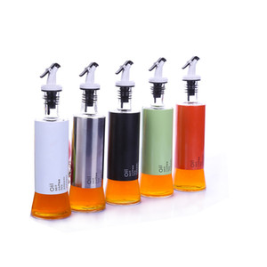 New Oil Bottles Kitchen 300ML Thicken Home Accessories Clear Lead Free Glass Sauce Vinegar Bottle Dust Proof Spice Container KKB4980