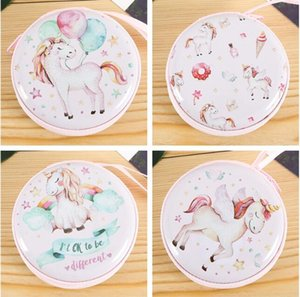 Unicorn Tinplate Coin Purse Children's Gift Cartoon Creative Baby, Kids & Maternity Accessories Bags