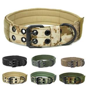 Hundekragen Tactical Einstellbare Große Hundekragen Nylon Tarnung Tarnausbildung Pet Halskette Choker Zubehör Sachen