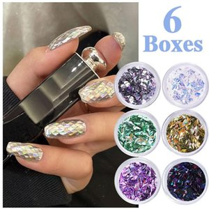 Nail Art Sequins Ins Style Nail Gold And Silver Glitter Heart-Shaped Butterfly Patch Set