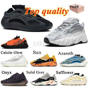 Adidas Yeezy 700 Kanye 700 Herren Turnschuhe Laufschuhe Azael Alvah Azareth Utility Black Solid Grey Mnvn Phosphor Orange Knochen Damen Sport Outdoor Mode