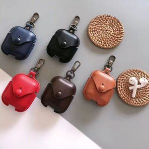 Luxurys Designer Airpods Wireless Headset Case Stoßfeste Fälle mit Haken für Airpod 1 2 Pro 3 Top-Qualität 5 Farben sehr gut nett