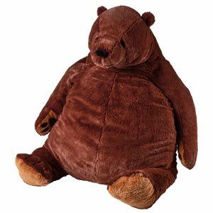 60cm Cute Gloomy Bear Plush Toy DJUNGELSKOG Brown Plush Bear Stuffed Animal Pillow Skog Soft Dolls Kids Gift Drop Shipping Q0113