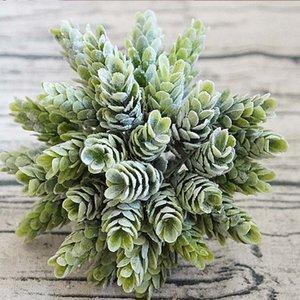 30 Heads Bundle Pine Cone Simulation Pineapple Grass Artificial Plants DIY Home Vases for Decoration Fake Plastic Flower Pompon